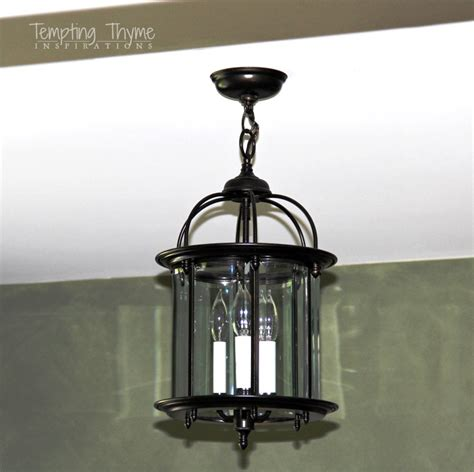 The Den Just Got A Little Brighter Tempting Thyme Painting Light Fixtures