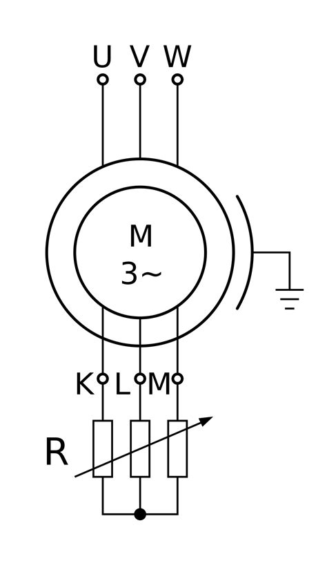 symbol for motor in circuit diagram wound rotor motor