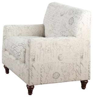 french script armchair coaster fine furniture oatmeal linen fabric norah accent