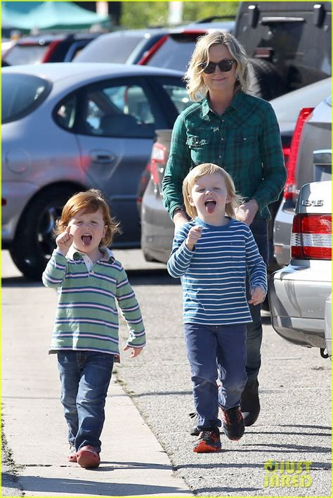 amy poehler sons amy poehler s sons make funny faces at photographers
