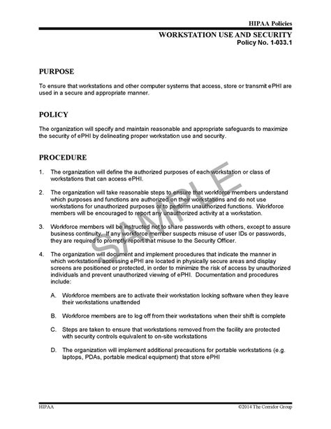 security procedures template hipaa policy template template design