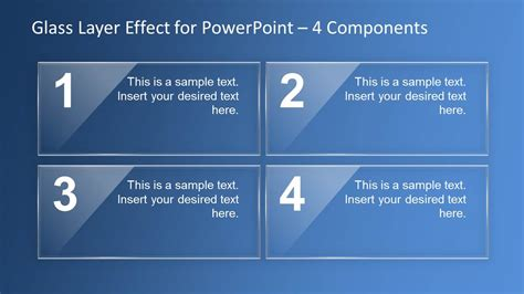 design effect in powerpoint glass layer effect powerpoint template slidemodel