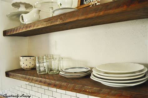 rustic shelves rustic open shelves in between cupboards creatively living
