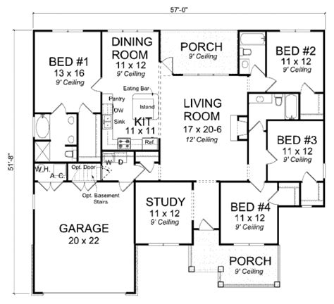 600 square foot house plans country style house plan 4 beds 3 baths 1894 sq ft plan