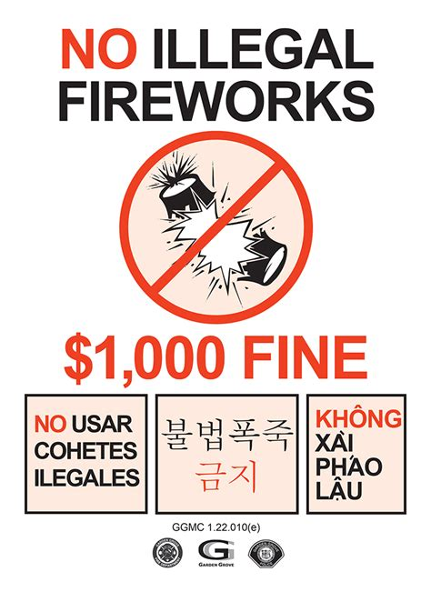 Garden Grove Municipal Code Illegal Fireworks Will Cost You City Of