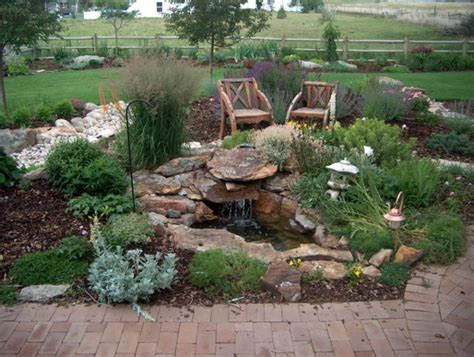 Colorado Backyard Landscaping Ideas by A Small Contained Waterfall Is For Our Semi Arid