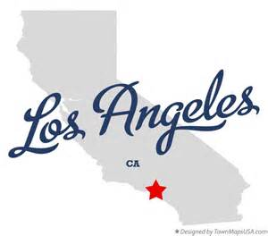 where is la california on a map map of los angeles ca california