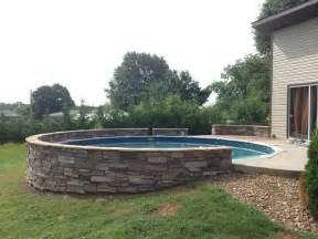 Backyard Pools With Retaining Walls Retaining Wall Around The Pool Backyard