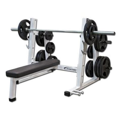 flat gym bench legend fitness pro series olympic flat bench