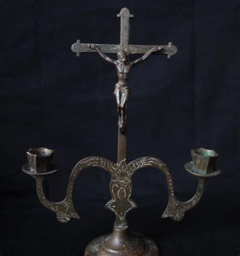 Liontin Salib Bentuk Pohon 5 kios engkong jual barang antik unik dan jadul tempat lilin bentuk salib bahan kuningan