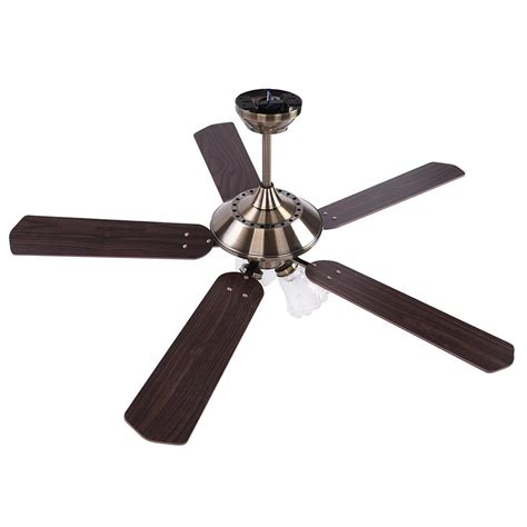52 quot traditional bronze finish ceiling fan light kit w