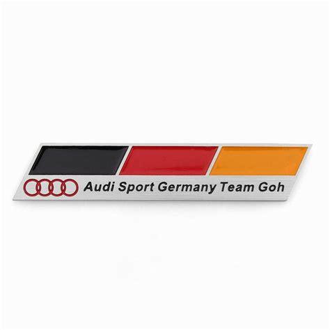 audi germany flag 3d aluminum emblem badge sticker decal audi sport germany