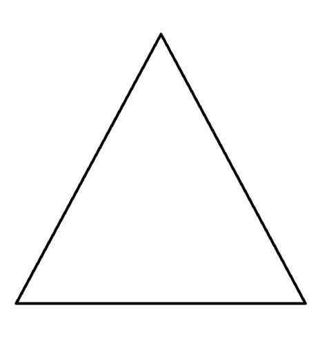 Triangle Coloring Page triangle shape to color coloring