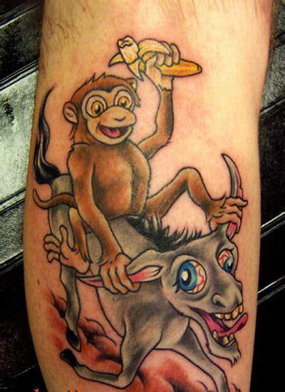 drunken monkey tattoo tattoos anyone alberta outdoorsmen forum