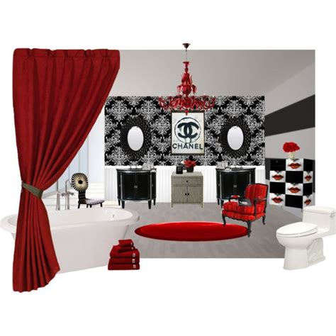 chanel inspired bathroom polyvore