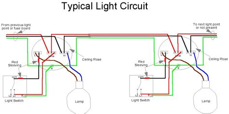 radial lighting circuit wiring wiring diagram with