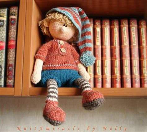 knitting pattern elf knitting pattern doll toy knitting pattern knitted doll