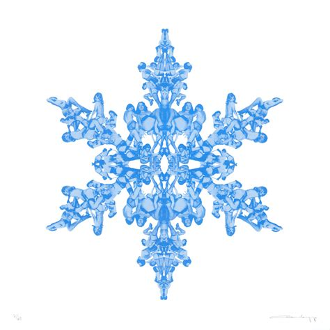 snowflake diamond dust edition print club london