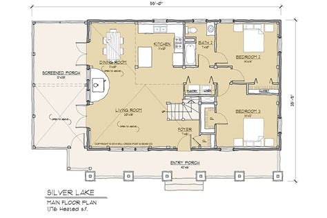 Lake Silver Floor Plan | silver lake timber frame floor plan by mill creek