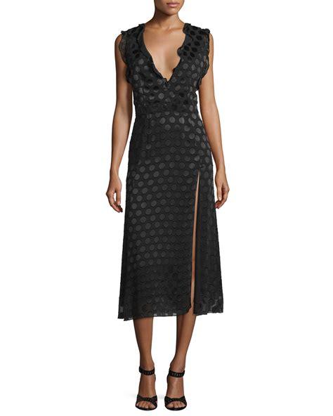 Ruffle Trim Sleeveless Dress cushnie et ochs ruffle trim sleeveless midi dress black