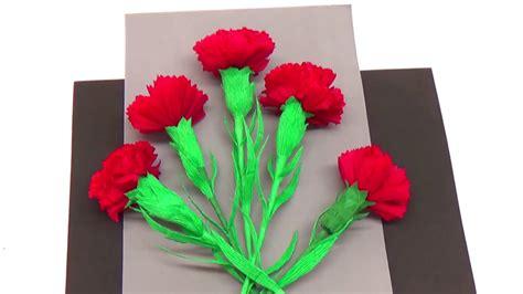 Carnation Paper Flower - easy paper flowers how to make carnation flower