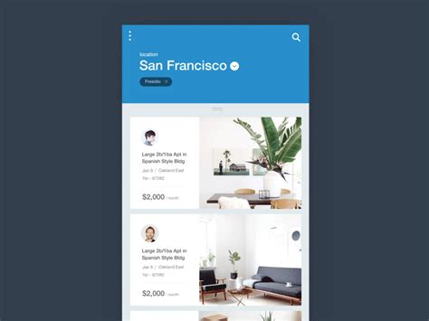 Homes For Rent App by Houses For Rent App Animation Uplabs