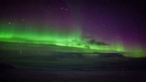 Green Northern Lights Solar Stock Footage