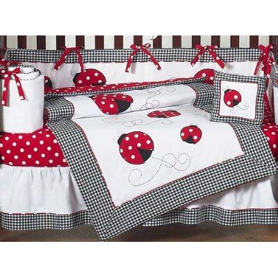 ladybug comforter ladybug baby bedding red and white crib set 9 pieces