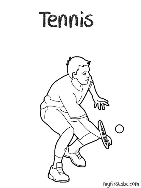 Tennis Coloring Page My First Abc Tennis Coloring Pages