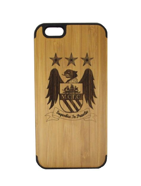 Casing Iphone 6 Custom Jersey Manchester City jubeco manchester city iphone 6 4 7inch football club bamboo handmade wood