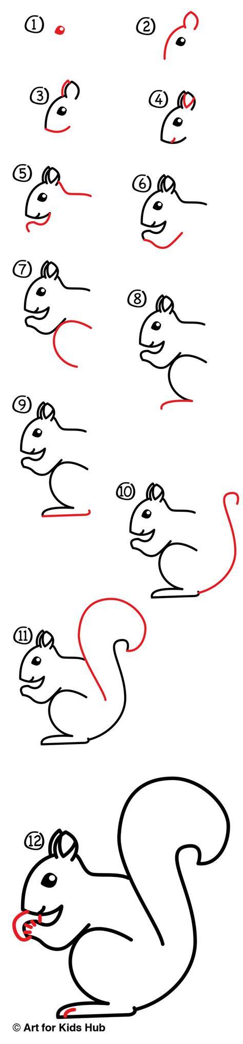 what to draw for how to draw a squirrel sya for hub