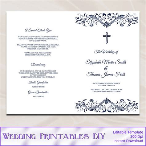 Catholic Mass Wedding Booklet Template 28 catholic mass wedding booklet template catholic