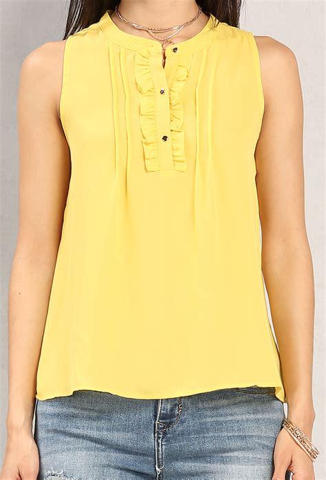 Ruffled Chiffon Blouses ruffled chiffon popover blouse shop blouse shirts at