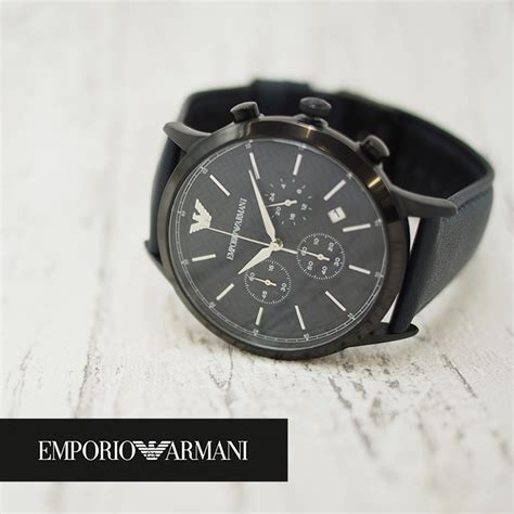 Emporio Armani Mens Ar2481 楽天市場 emporio armani エンポリオアルマーニ メンズ腕時計 43mm クロノグラフ ar2481