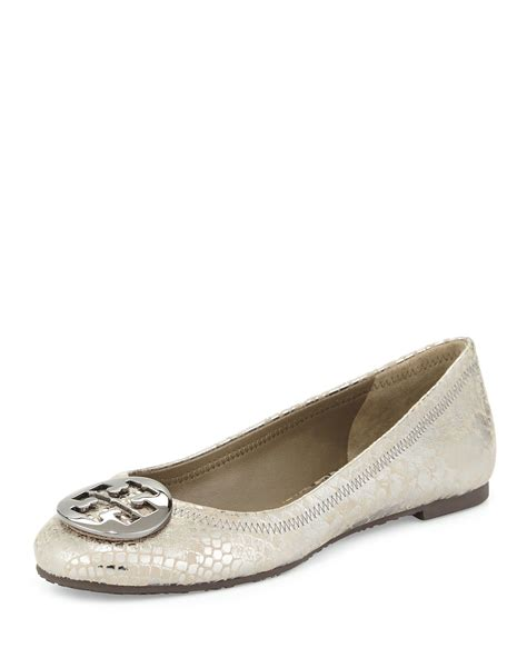 Trend Report Burch Reva Flats Are Going To Be This Second City Style Fashion by Burch Reva Snake Embossed Ballet Flat In Silver