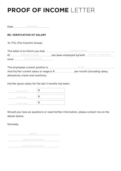 40 income verification letter sles proof of income