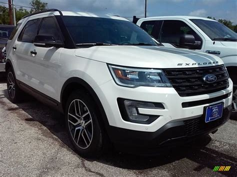 white ford explorer sport 2016 white platinum metallic tri coat ford explorer sport
