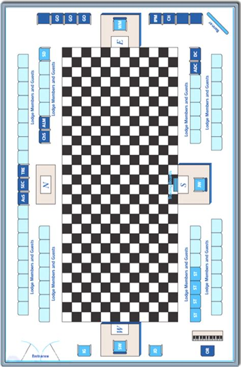 masonic lodge floor plan masonic temple layout