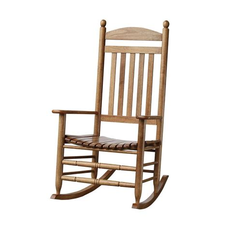 Rocking Chair Patio Bradley Maple Slat Patio Rocking Chair 200sm Rta The Home Depot