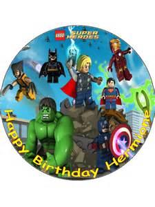7 5 lego super heroes superheroes personalised edible