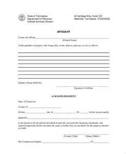 sample blank affidavit form 6 documents in pdf