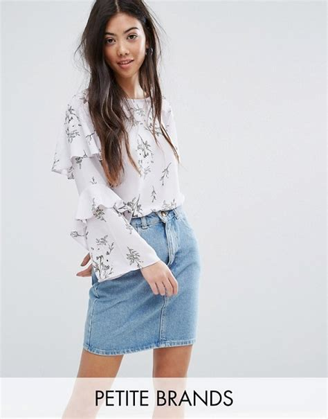 Sleeve Blouse New Look by New Look New Look Floral Print Ruffle