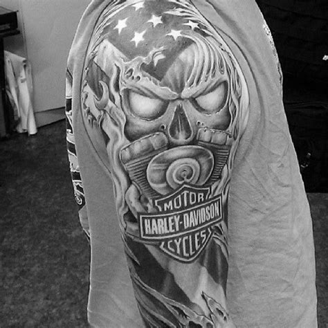 harley tattoos for men sleeve guys harley davidson tattoos designs