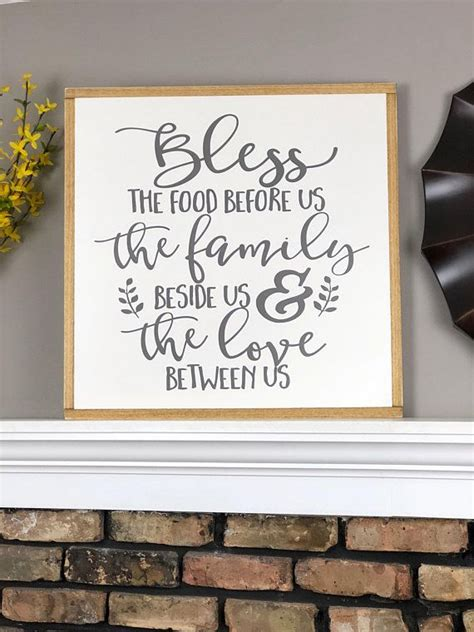 bless  food   wood sign large farmhouse sign