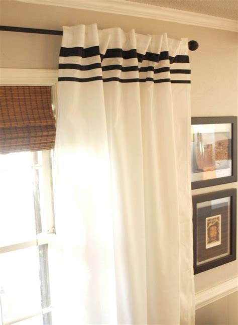Ikea Vivan Curtains Decorating How To Dress Up Plain White Vivan Ikea Curtains With Ribbon Stripes Living Room New