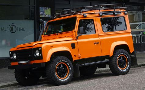 land rover jeep orange land rover defender jeep free stock photo