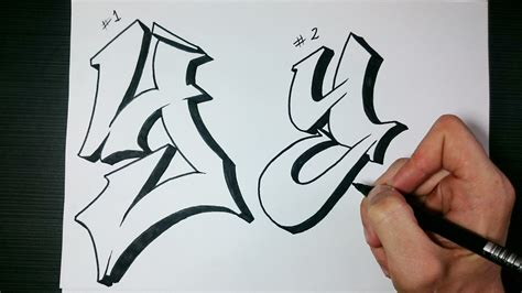 Letter Y Drawing by Draw Graffiti Letters Paper Graffiti