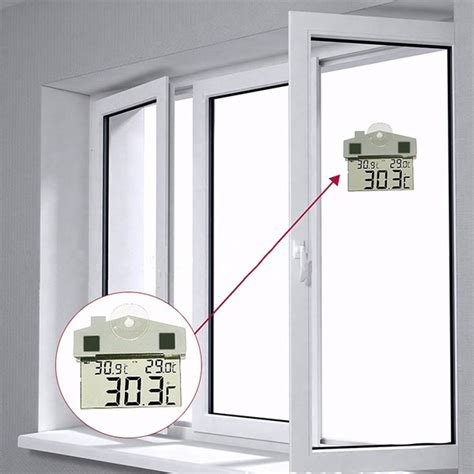digital window digital window thermometer hydrometer indoor outdoor with