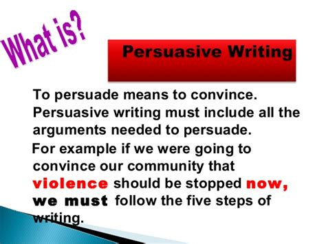 What Is Persuasive Essay by Scaffolding Persuasive Writing