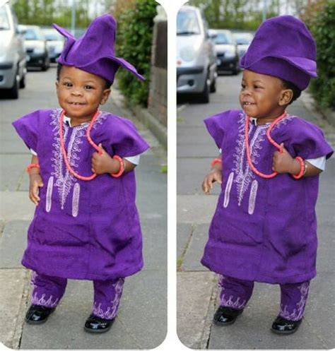 nigerian native styles for children gorgeous baby boy in traditional yoruba outfit african